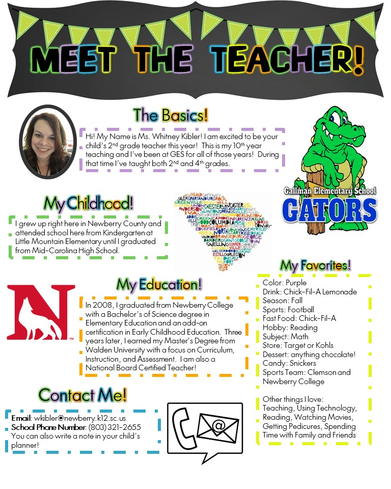 Gallman Elementary: Teachers - Whitney Kibler