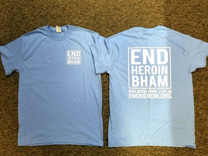 End Heroin Walk T-Shirt in Jag Blue