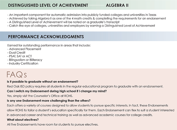 Distinguished Level of Achievement/Performance Acknowledgment