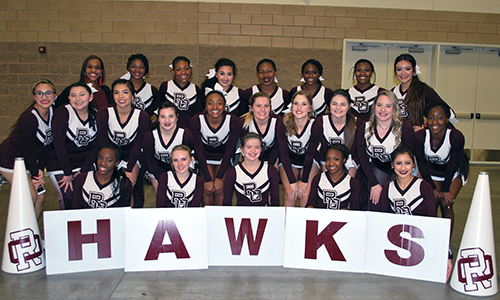 Cheerleading team at the UIL Spirit State Championship