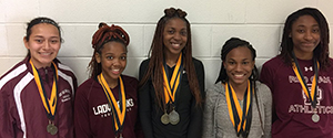 Medal Winners on Lady Hawks Team