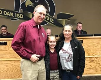 Pledge leader recognized by Board