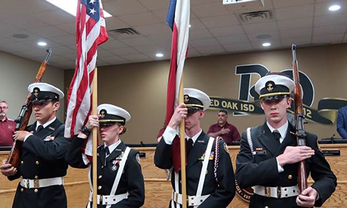 NJROTC presentation of the colors at board meeting