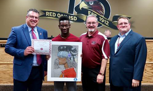 ROHS art student recognized as Visual Arts Scholastic Events State Qualifier