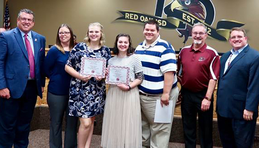 National Thesbians Qualifiers recognized at board meeting