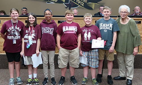 Pledge leaders recognized by Board