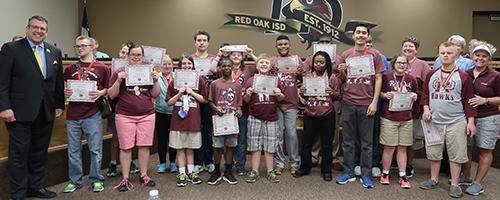 Special Olympian athletes recognized by board
