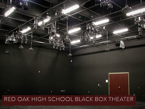 photo of the Black Box theatre at Red Oak High School