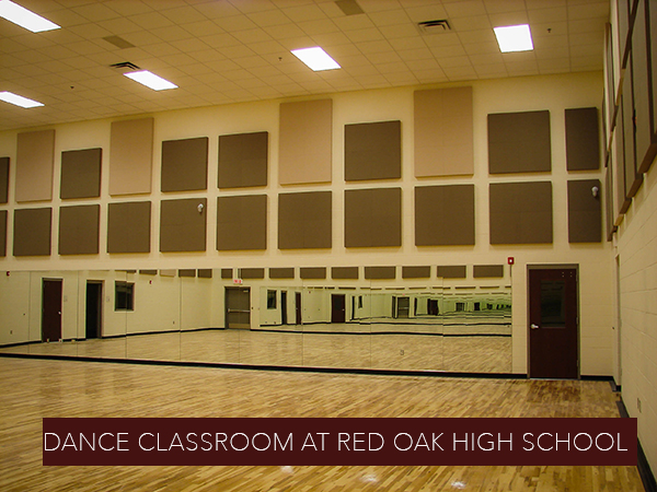 photo of dance classroom at Red Oak High School