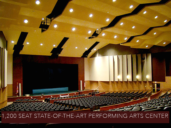 Interior of Performing Arts Center at Red Oak High School