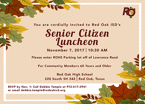 Senior Citizen Luncheon invitation