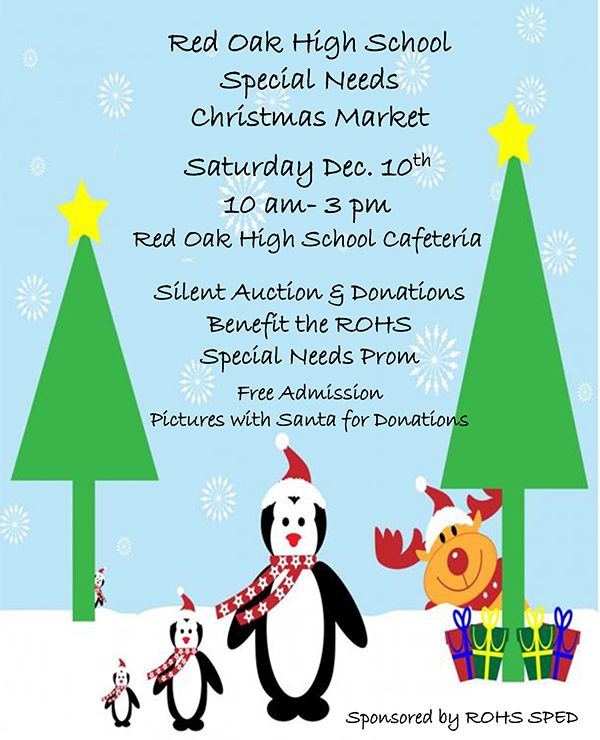 Christmas Market on December 9 at ROHS from 10 a.m. to 3 p.m.