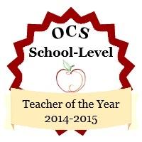 Teacher of the Year Badge 2014-2015 for Swansboro Elementary School