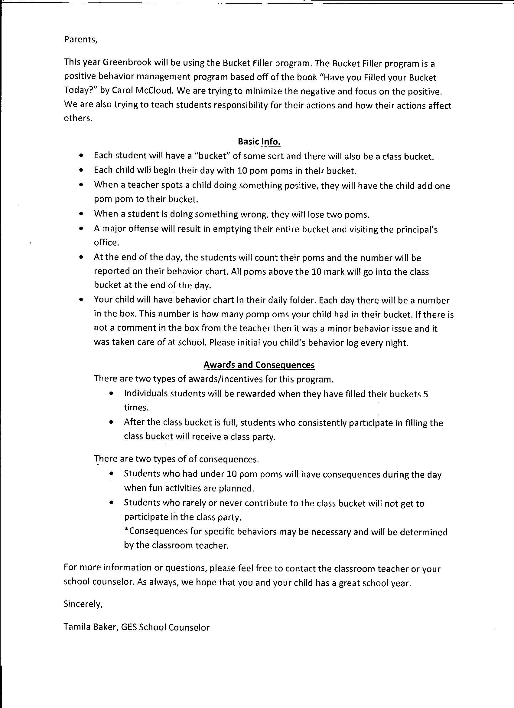 Greenbrook Elementary School Guidance
