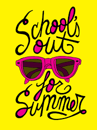 School's out for summer with pink sunglasses