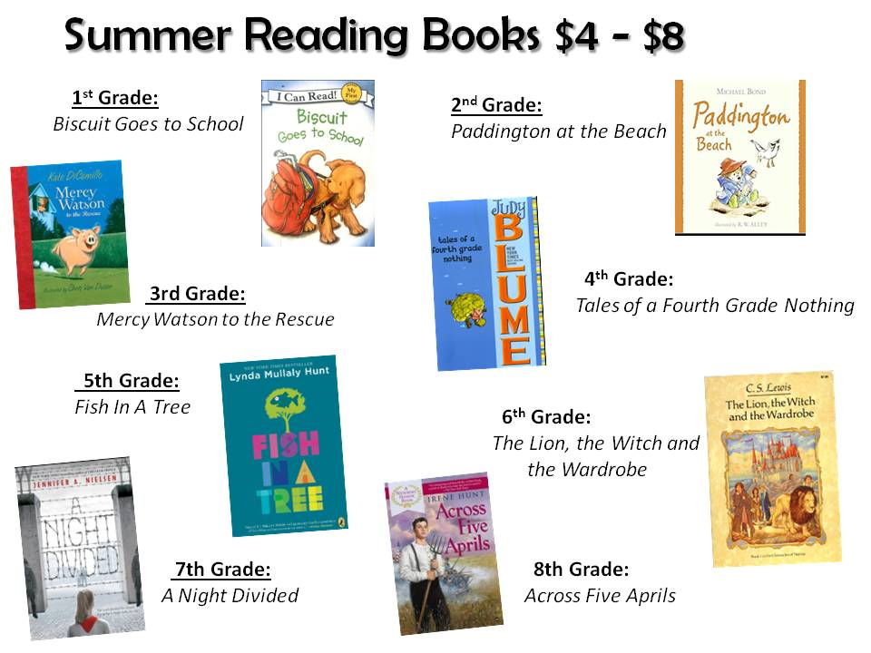 Cottage Hill Christian Academy Highlights Summer Reading Assignments