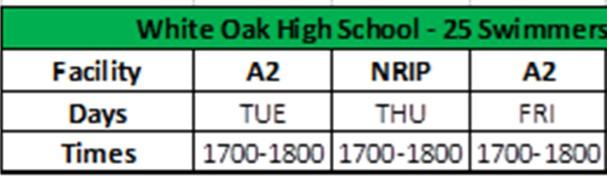 WOHS Schedule 1