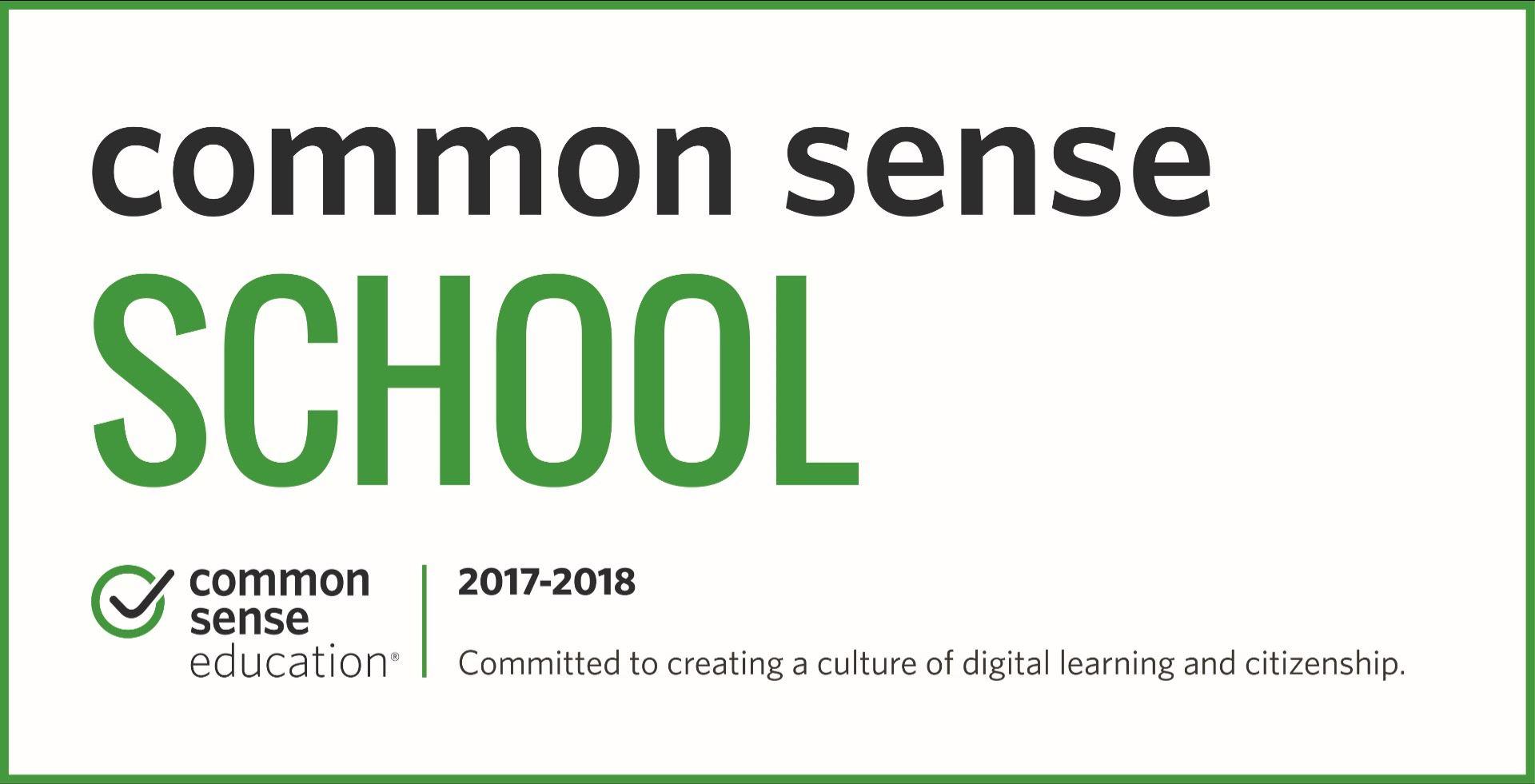 School Wide Common Sense Media Certification at JCE Banner