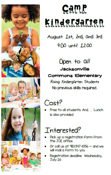 Camp Kindergarten Flyer