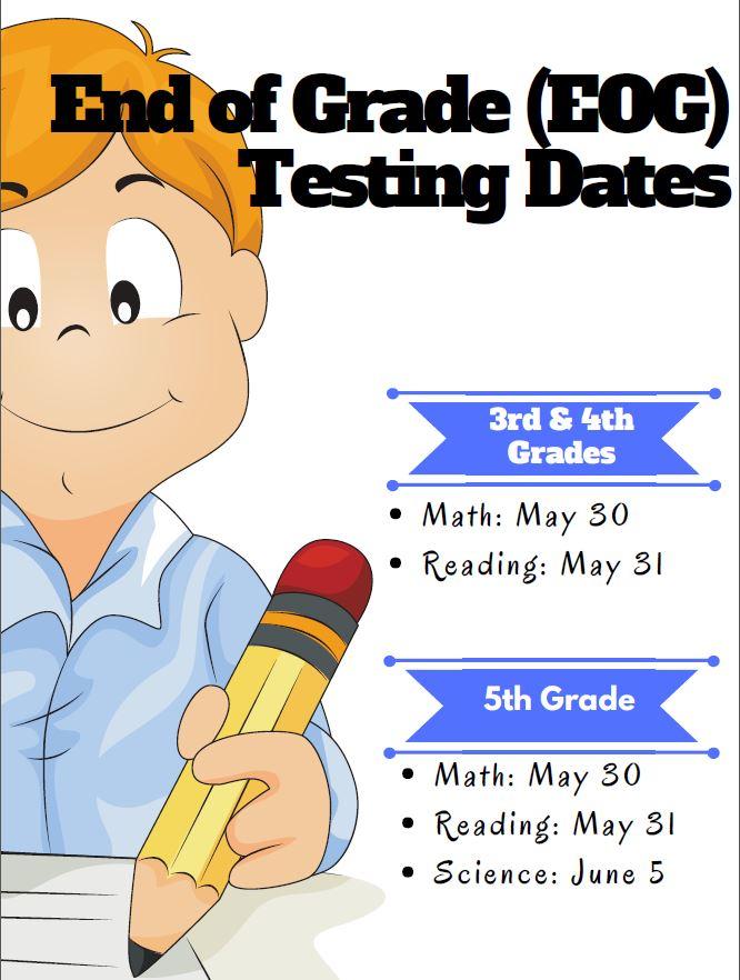 EOG Test Dates Flyer