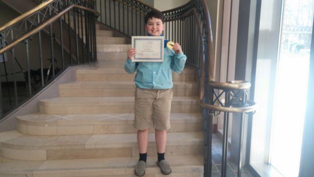 Carrington Sydes, Regional Science Fair Winner 2017