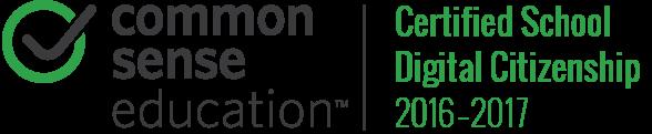 Common Sense Media Certified School Digital Citizenship 2016-17