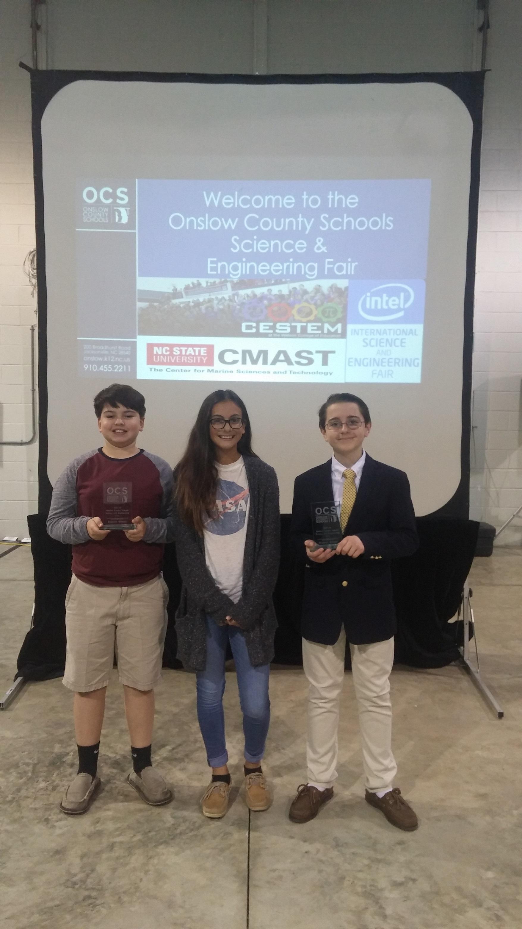2017-18 OCS Science Fair Winners