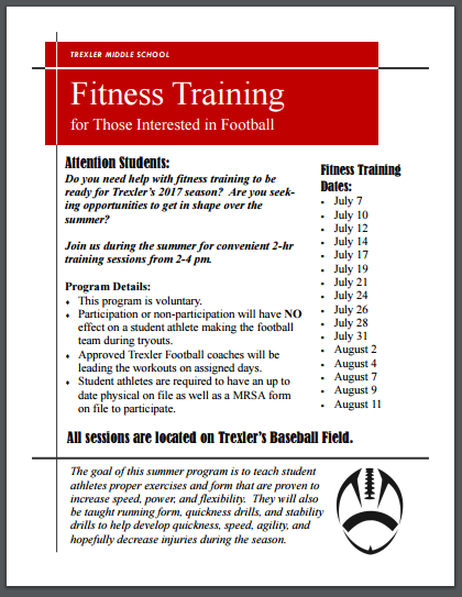 Fitness Training for Football Information