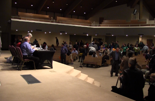 Screenshot of Live stream video of Green Valley Baptist School Rezoning Meeting