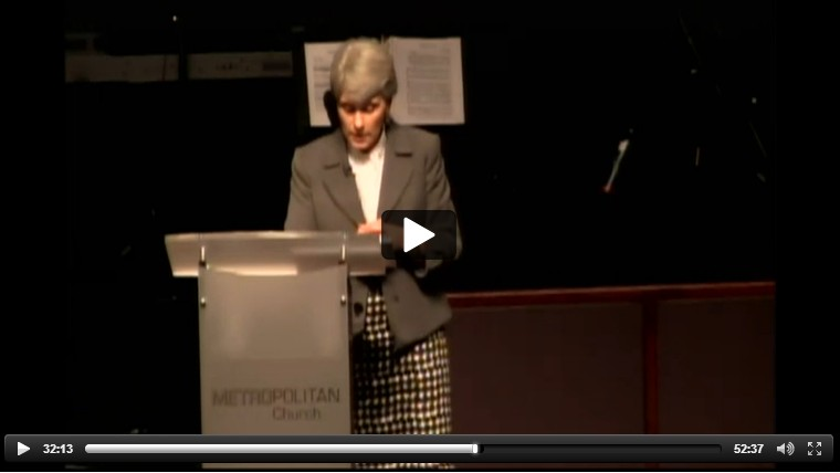 Screenshot of Superintendent Dr. Murphy at Metro Church of God- click for live stream link