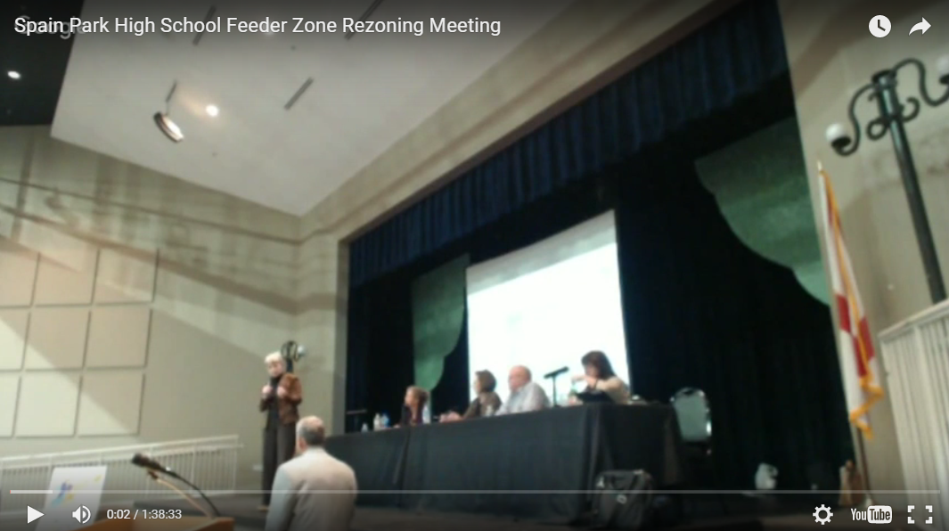 Screenshot of February 23 Rezoning Meeting
