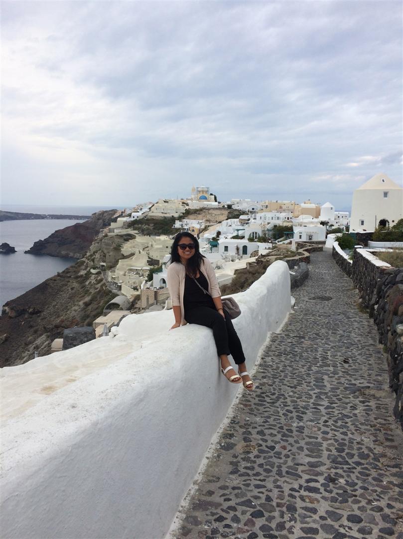 selfie in Greece