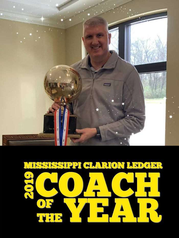 Coach Mealer - MS Clarion Ledger Coach of the Year 2019