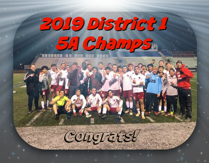 Boy's Soccer 2019 District Champs