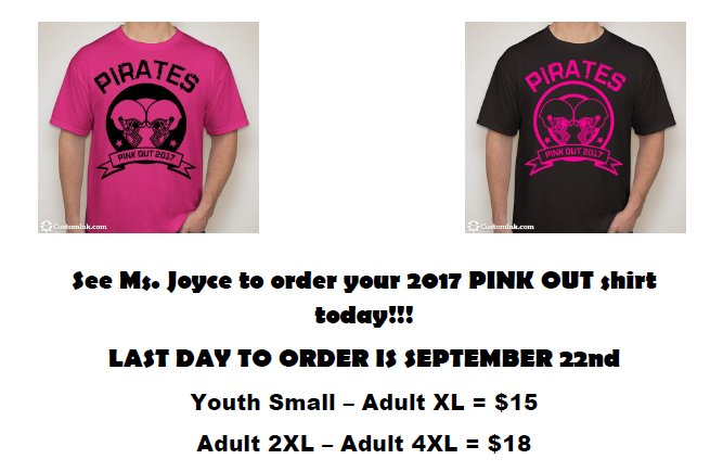 Pink Out Shirt For Sale