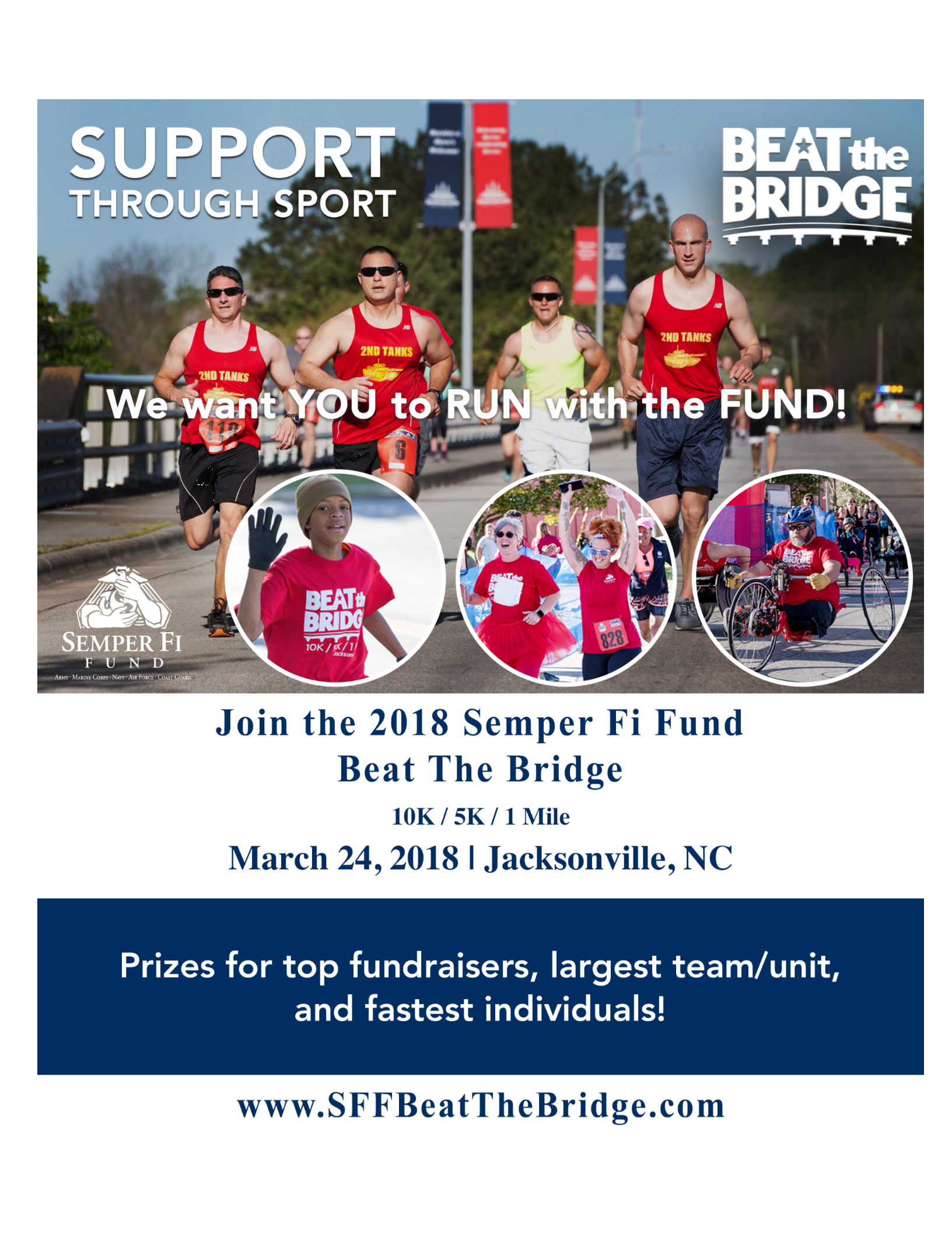 Semper Fi Fund Beat the Bridge flyer