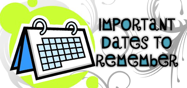 Important Dates to Remember clipart