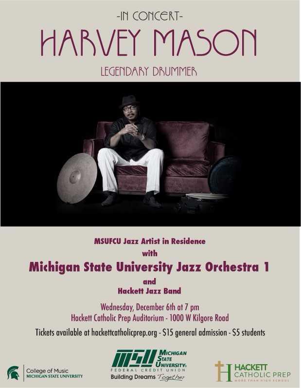 Harvey Mason in Concert Fundraiser for Hackett image