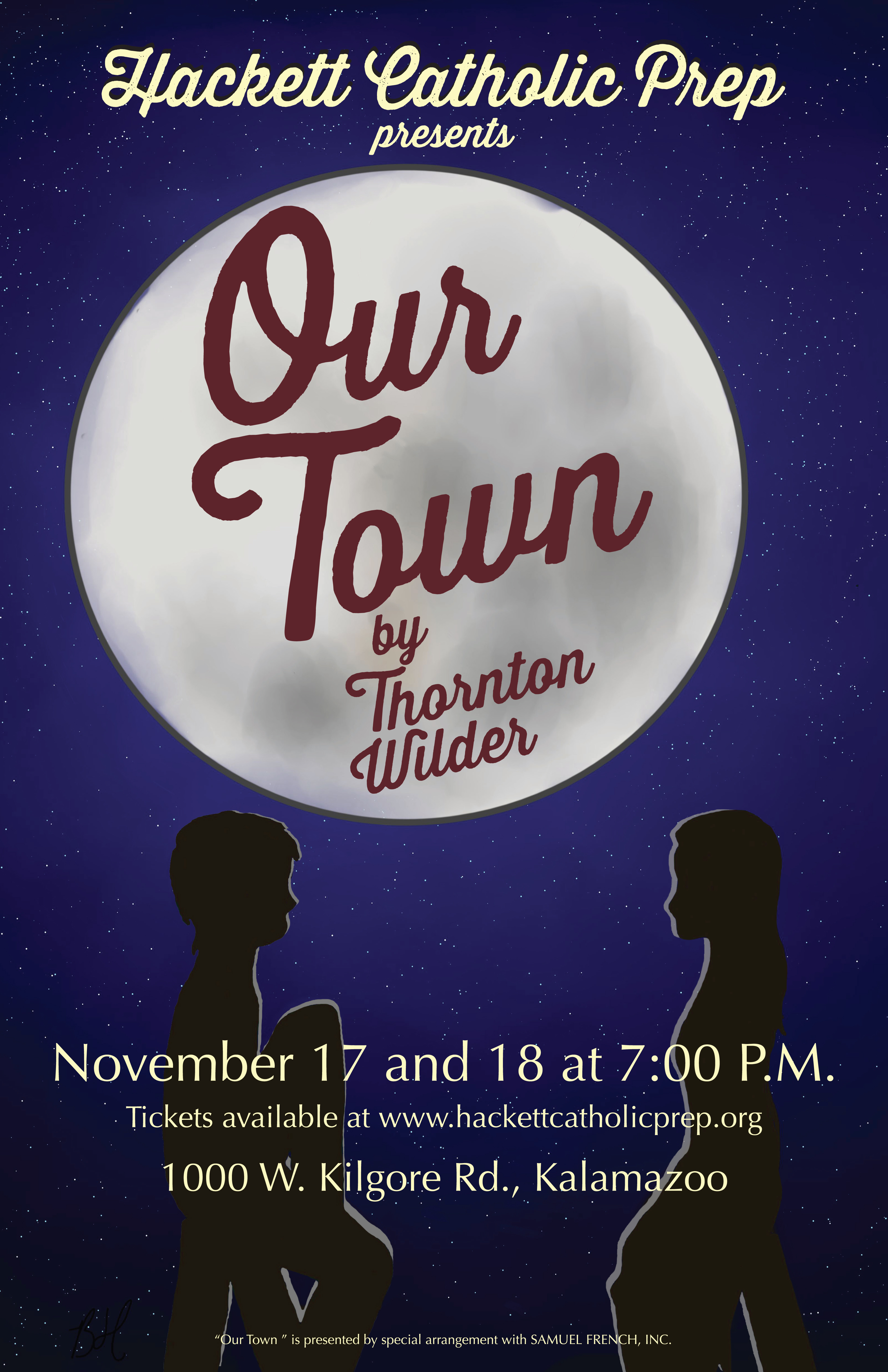 Our Town Production poster
