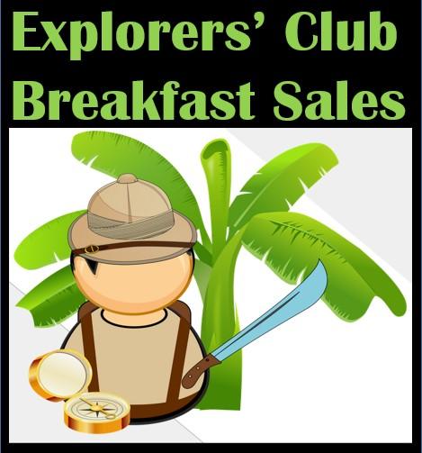 Explorers Breakfast Sales