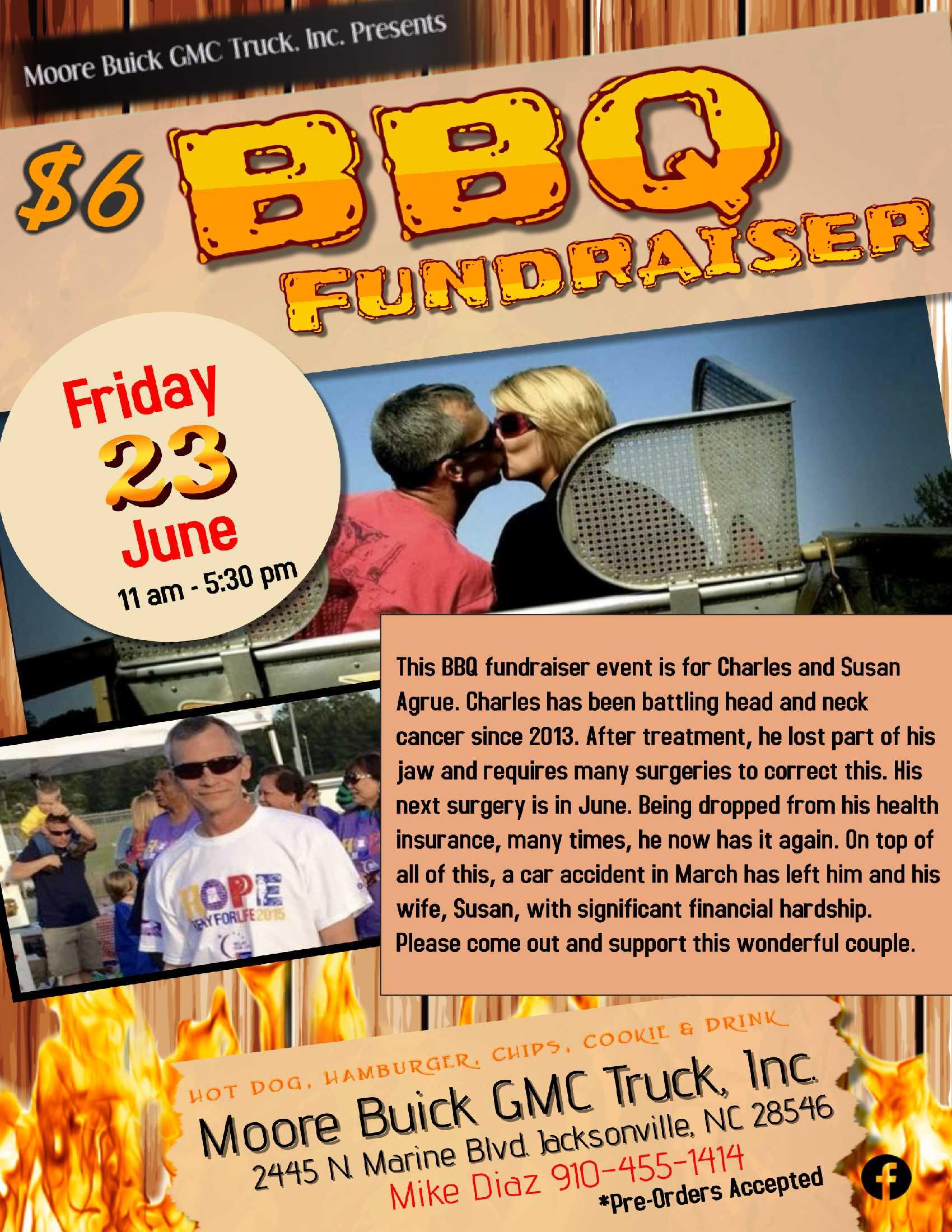 BBQ Fundraiser for Mrs. Agrue