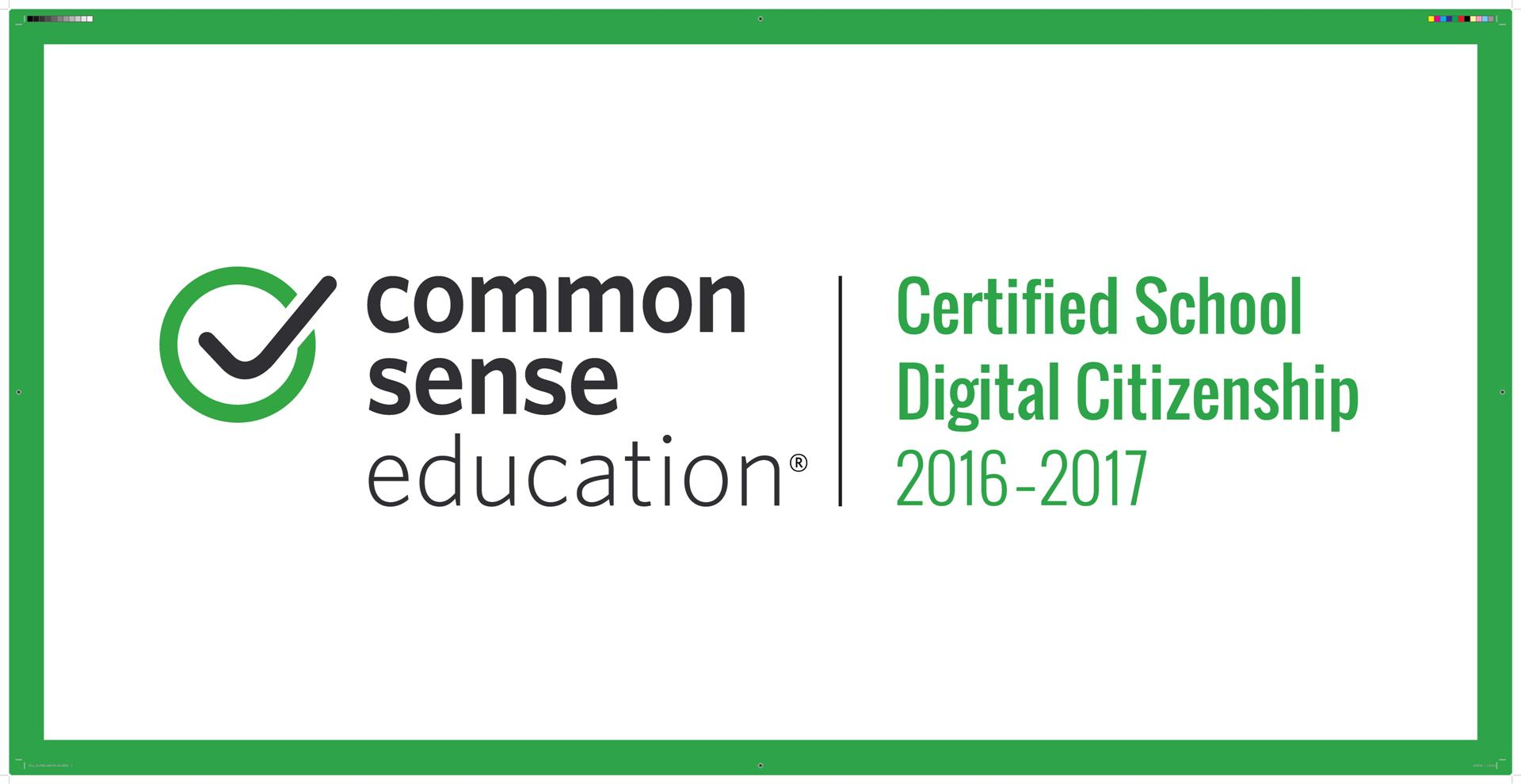 Common Sense Certified School in Digital Citizenship