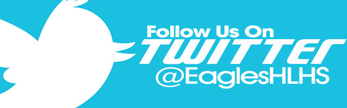 Follow us on twitter @EaglesHLHS logo click here