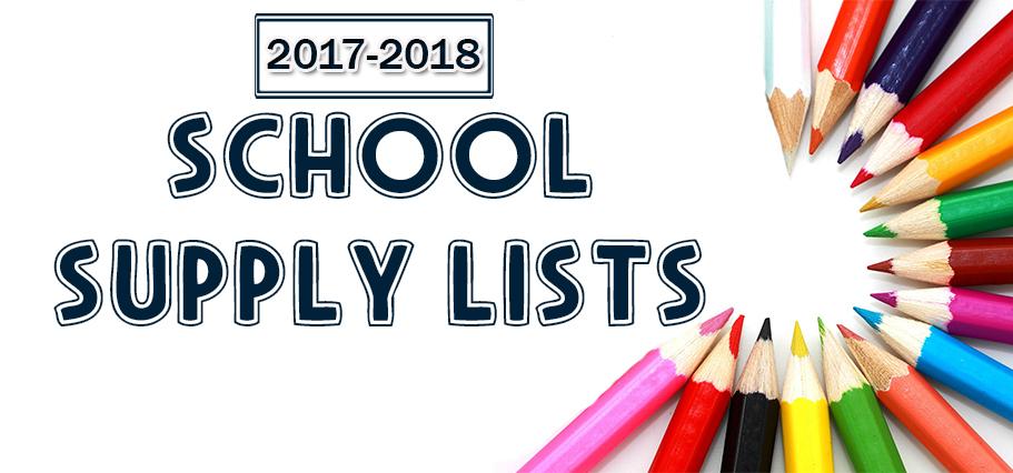 School Supply Lists 2017-2018.