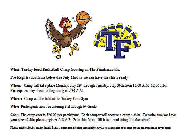 Basketball camp information