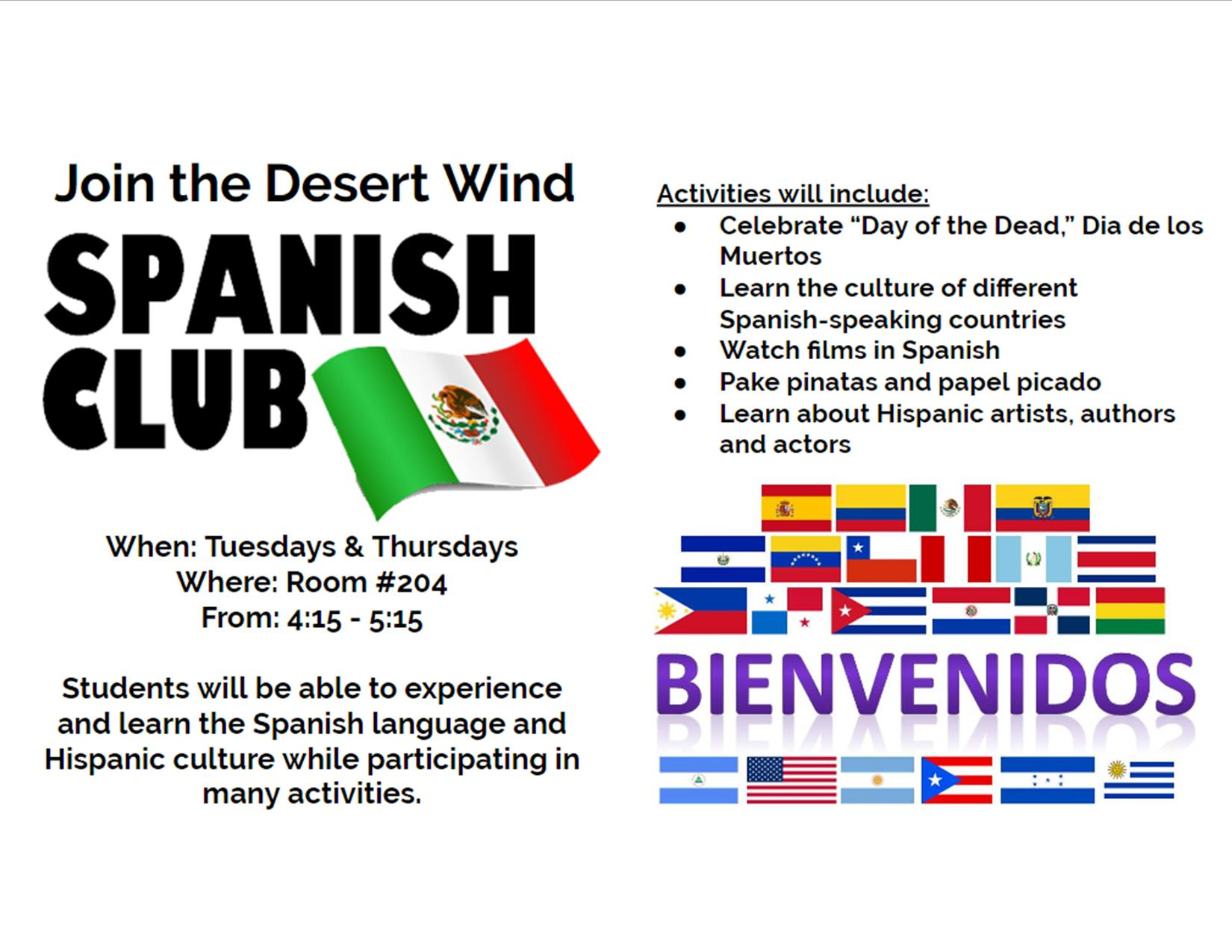 Spanish Club Info