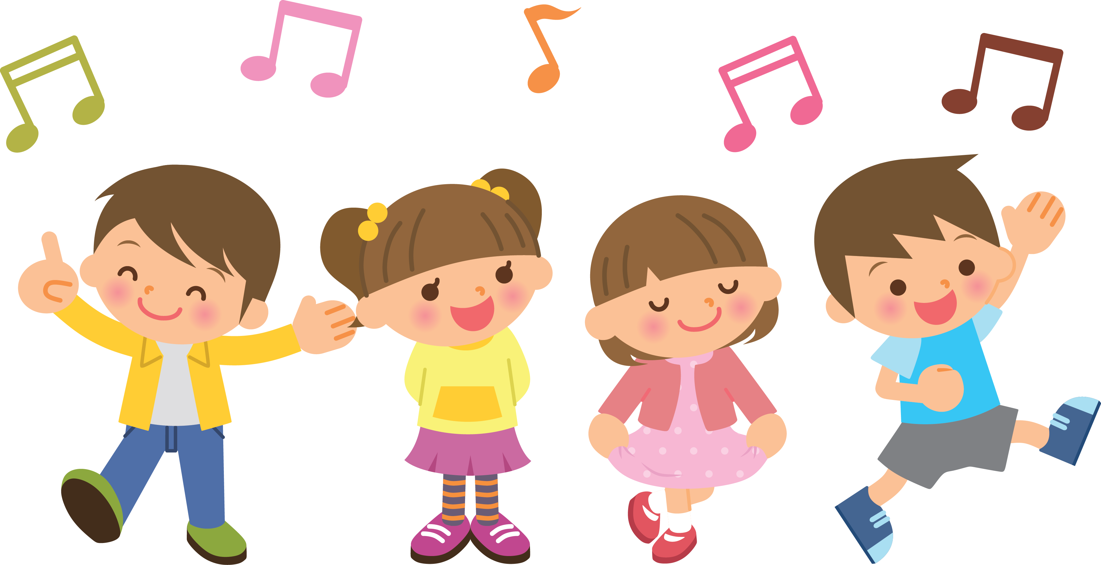 Image result for music kids singing clipart