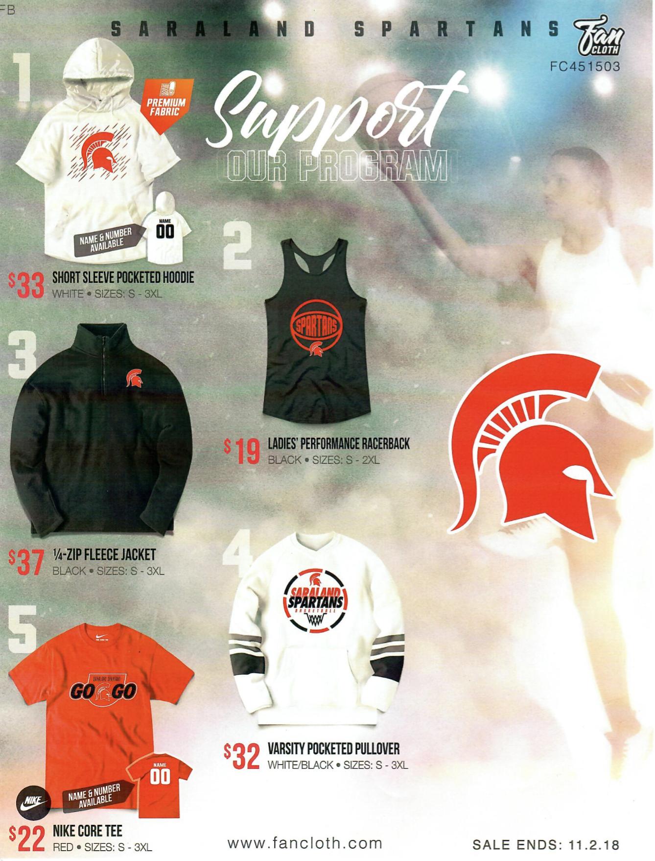 Saraland High School  Latest News - Spartan Fan Gear On Sale!! 754c85dd8a