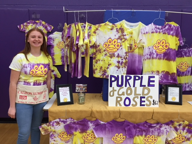 8th Grader Rose Weber and Purple and Gold Roses