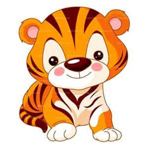 cartoon baby tiger